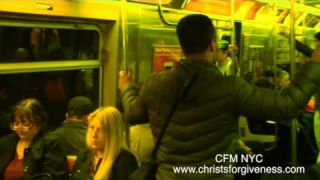 Forget Street Preaching CFM is doing NYC Train Preaching