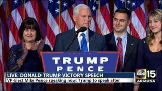 FULL: Mike Pence Victory Speech - Election night 2016